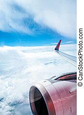 avion, vue