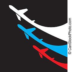 aviones, fl, rusia, plano de fondo