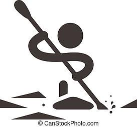 aviron, canoë-kayac, icône