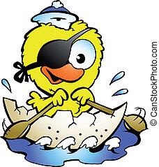 aviron, poulet, bateau