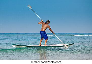 aviron, type, surfboard.