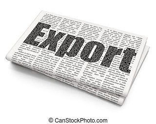 avis, concept:, eksporter, finans, baggrund