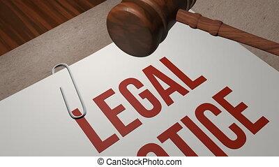 avis, concept, légal
