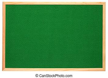 avis, feutre, isolé, arrière-plan., vert, planche, blanc, vide