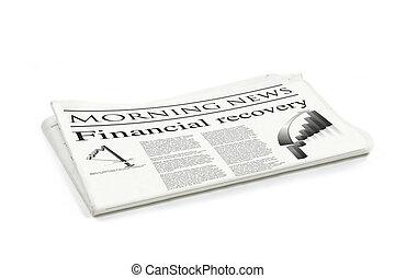 avis, finansielle, recovery