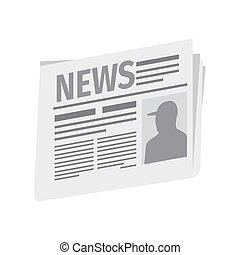 avis, frisk, isoleret, hvid baggrund
