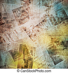avis, gamle, baggrund
