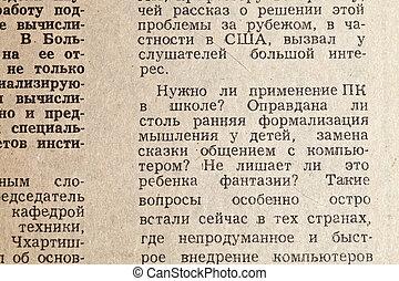 avis, gamle