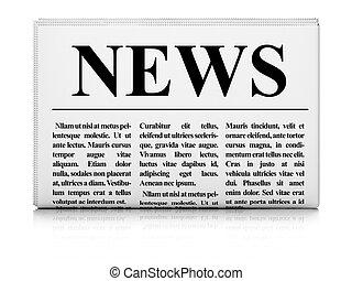 avis, hvid baggrund