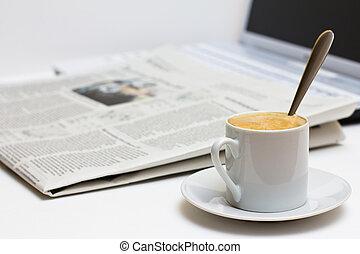 avis, kaffe kop