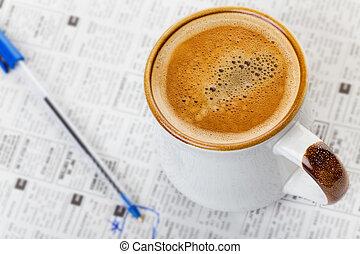 avis, kaffe