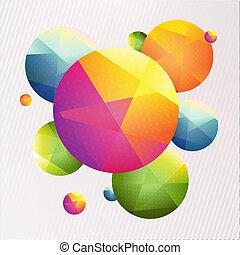 avis, origami, bold, farverig