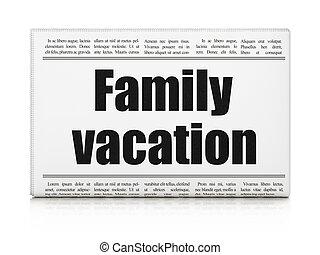 avis overskrift, concept:, ferie, familie