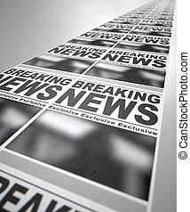 avis, presse, løb
