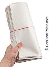 avis, rulle, blank