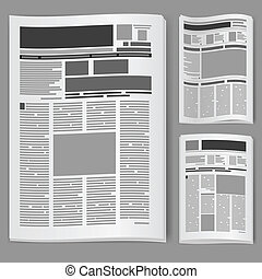 avis, sæt, nummerer to