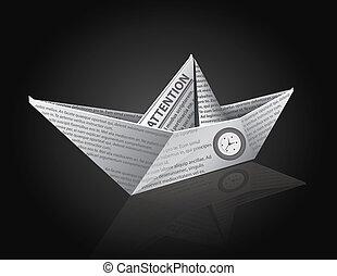 avis, skib, vektor