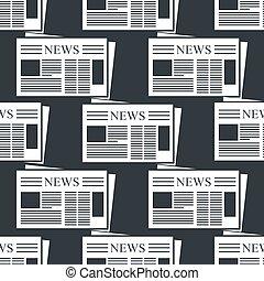 avis, vektor, baggrund