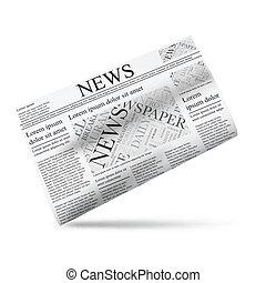 avis, vektor, illustration, ikon