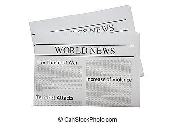 avis, verden, nyhed