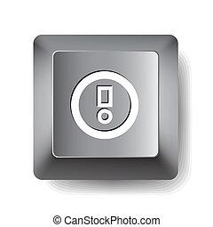 aviso, computadora, key.