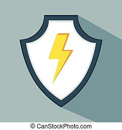 aviso, dados, seguro, proteção, escudo