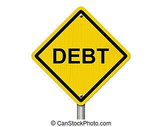 aviso, de, dívida