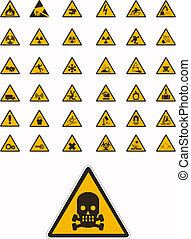 aviso, e, segurança, sinais