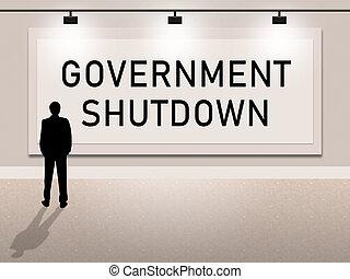 aviso, fechado, governo, senado, meios, shutdown, presidente, américa, ou
