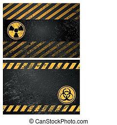 aviso, fundo, perigo