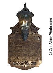 aviso, madera, viejo, tabla