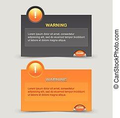 aviso, notificação, janelas