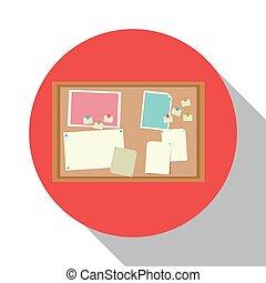 aviso, objeto, sombra, oficina, tabla