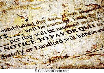 aviso, pagar