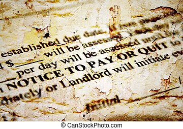 aviso, para pagar