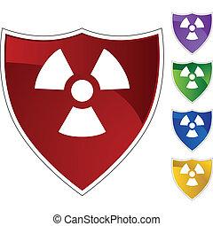aviso, radioativo