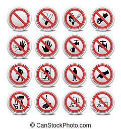 aviso, saúde, segurança, perigo, &