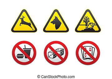 aviso, sinal perigo