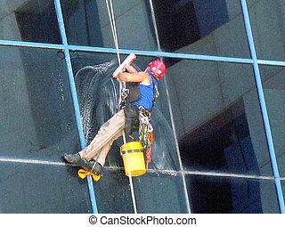 aviv, téléphone, fenêtre, 2011, nettoyage