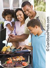 avnjut, familj, barbeque