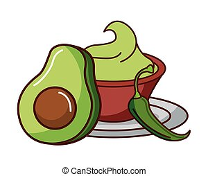 avocado and guacamole chili pepper mexican food traditional ...
