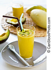 Avocado and Mango smoothie - Fresh Avocado and Mango...