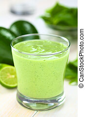 Avocado and Spinach Smoothie - Healthy refreshing green ...