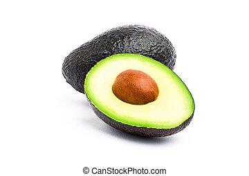 Avocado - Closeup of avocado on white background