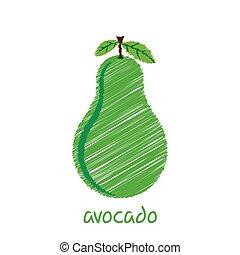 avocado fruit design