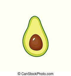 Avocado fruit icon inside. Vector illustration