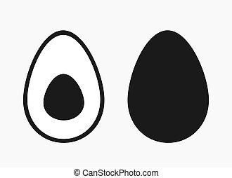 Avocado fruit icon