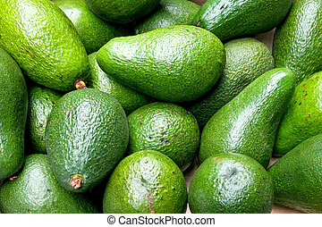 Avocado green - Bunch of fresh and natural green avocado