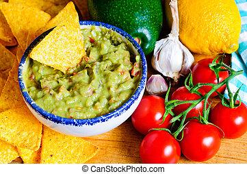 Avocado guacamole ingredients - Ingredients for avocado...