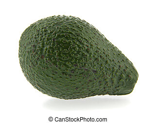 avocado isolated on white background close-up